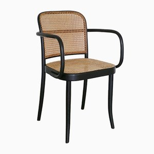 Beech and Rattan Dining Chair by Josef Hoffmann for Ligna, 1960s