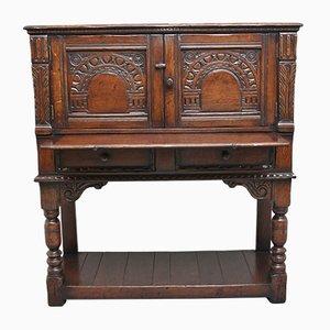 Mueble bar de roble, principios del siglo XX