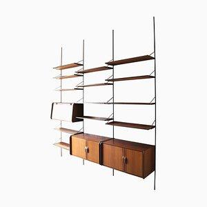 Libreria in legno di Gianfranco Frattini per La Permanente Mobili di Cantù, anni '60