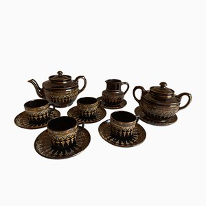 Art Deco English Porcelain Tea Set, 1920s