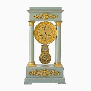 Antique French Gridiron Mantle Clock