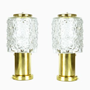Night Lights from Kamenický Šenov, 1960s, Set of 2