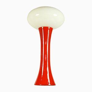 Lampe de Bureau Modèle 8838 en Céramique et Verre Opalin de Kaiser Leuchten, Allemagne, 1970s