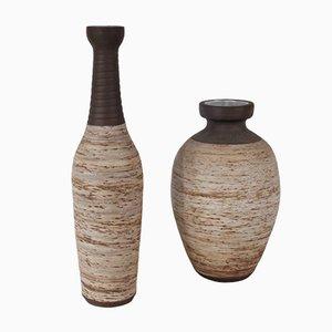 Jarrones de cerámica de Jaap Ravelli, años 60. Juego de 2