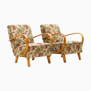 Vintage Lounge Chairs by Jindřich Halabala for UP Závody, 1930s, Set of 2