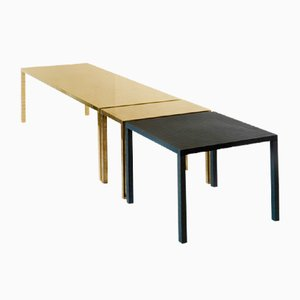 Table Contemporaine en Métal Noir