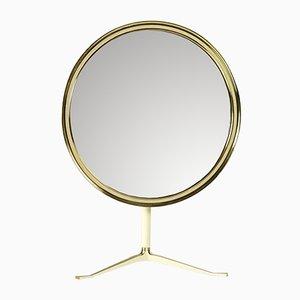 Mid-Century German Brass Vanity Mirror from Vereinigte Werkstätten München