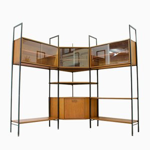 Mid-Century Teak Wall Shelving Unit from Avalon