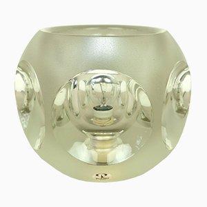 Lámpara de mesa alemana de cristal de Peill & Putzler, años 70