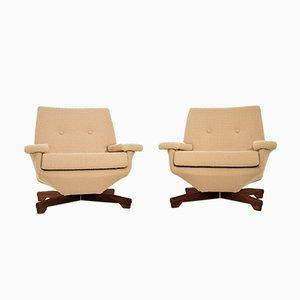 Vintage Danish Lounge Chairs, Set of 2
