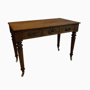 Victorian Gothic Oak Hallway Table