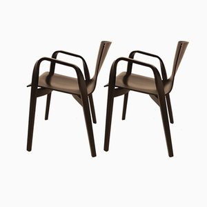 Italian Wooden Armchairs by Vico Magistretti for Depadova, 1990s, Set of 2