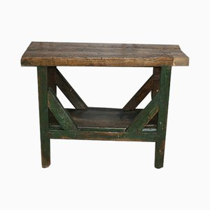 Petite Table de Travail Antique en Bois