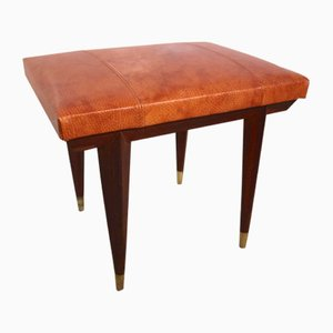 Portuguese Rosewood Ottoman, 1950s