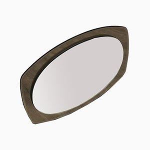 Espejo italiano moderno con marco de vidrio espejado, años 60