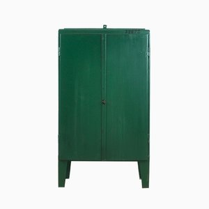 Mid-Century Industrial Iron Cabinet, 1960s