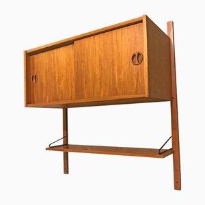 Mueble de pared danés vintage de teca