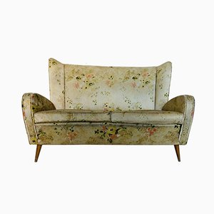 Italian Fabric and Wood Sofa by Paolo Buffa, 1950s