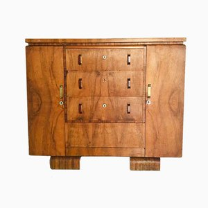 Vintage Art Deco French Wooden Dresser, 1930s