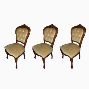 Chippendale Esszimmerstühle, 1960er, 3er Set