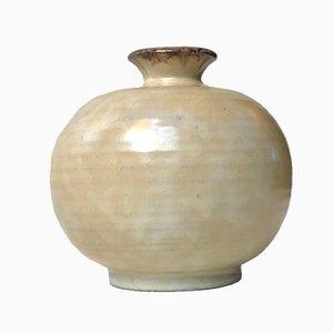 Jarrón esférico de cerámica de Svante Kaede para Ekeby Uppsala, años 30