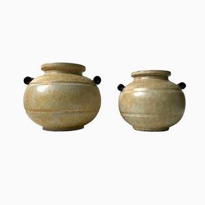 Jarrones Art Déco de cerámica de Harald Ostergren para Ekeby, años 30. Juego de 2