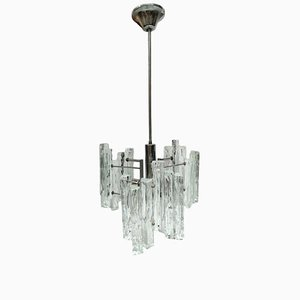 Glass Chandelier by J.T. Kalmar, 1960s
