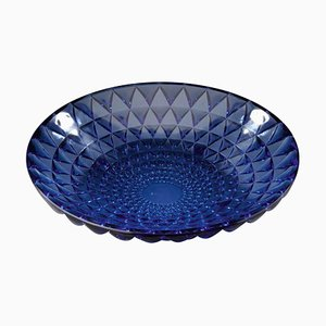 Rosace Blue Bowl by René Lalique, 1930s
