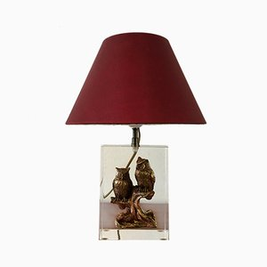 Vintage Resin Table Lamp, 1970s
