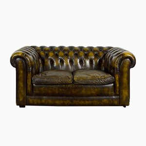 Vintage Chesterfield Sofa aus Leder
