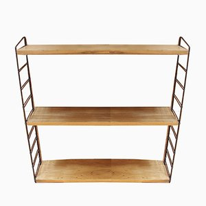 Metal and Wood Shelf by Kajsa & Nils Nisse Strinning for String, 1960s