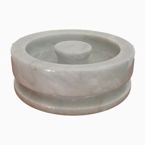 Piatto o posacenere nr. 8532 in marmo di Angelo Mangiarotti per Knoll, anni '70
