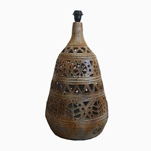 Lámpara de mesa o de pie monumental francesa de cerámica, años 60