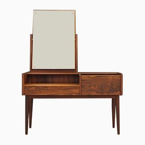 Danish Mirror and Rosewood Dressing Table, 1970s