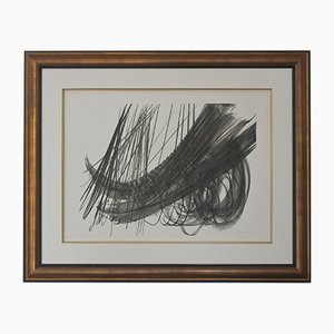 Abstract Lithograph by Hans Hartung, 1970s