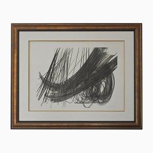 Litografía abstracta de Hans Hartung, años 70