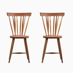 Mid-Century Teak Dining Chairs, 1950s, Set of 2