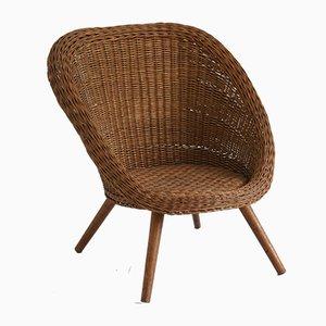 Sessel aus Rattan , 1960er