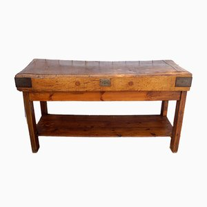Antique Wooden Worktable from Rushbrooke Albion