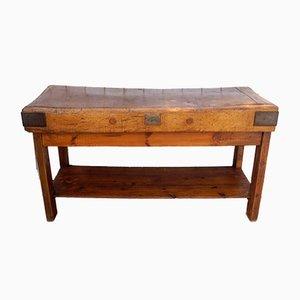 Banco da lavoro antico in legno di Rushbrooke Albion