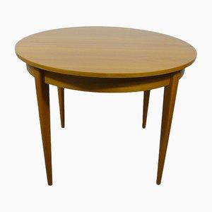 Runder ausziehbarer Esstisch von K Möbel, 1966