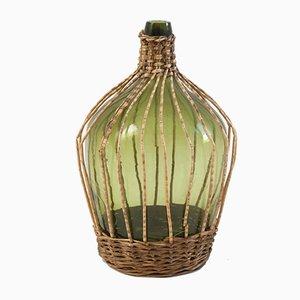Vintage Glasballon Flasche, 1960er