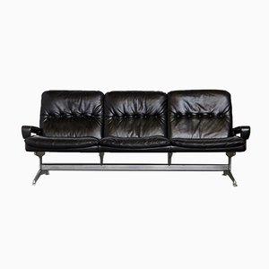 Sofa aus Aluminium, Kuhleder & Palisander von Andre Vandenbeuck für Strässle, 1960er
