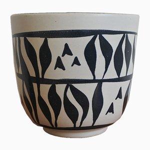 Moderner Mid-Century Übertopf aus Keramik von Elchinger, 1950er