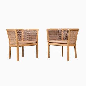 Dänische skandinavische moderne Armlehnstühle von Bernt Petersen für Erik Wørts Mobelfabrik, 1960er, 2er Set