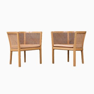 Scandinavian Modern Danish Armchairs by Bernt Petersen for Erik Wørts Mobelfabrik, 1960s, Set of 2