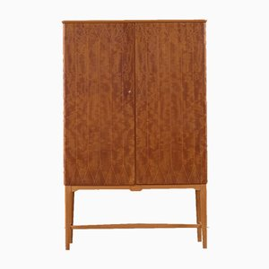Swedish Beech and Mahogany Cabinet, 1950s