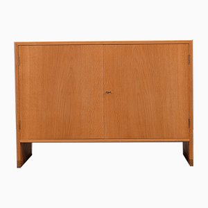 Scandinavian Modern Danish Brass and Oak RY Cabinet by Hans J. Wegner for Ry Møbler, 1950s