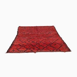 Vintage African Minimalist Wool Zaiane Carpet, 1970s