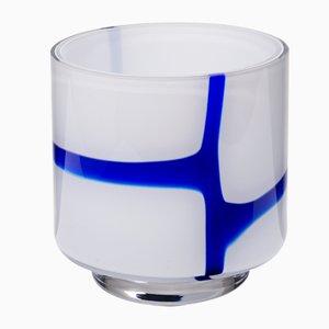 Blaue Spina Vase von Eric Schmitt